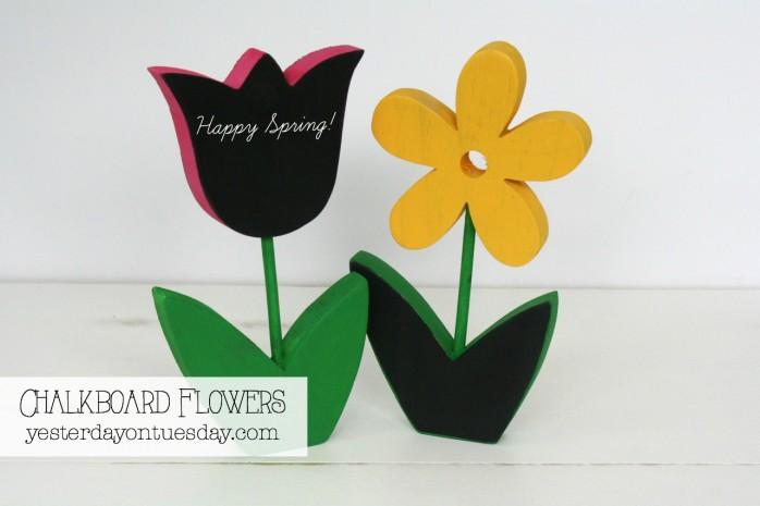DIY Chalkboard Flowers, a fun spring craft project