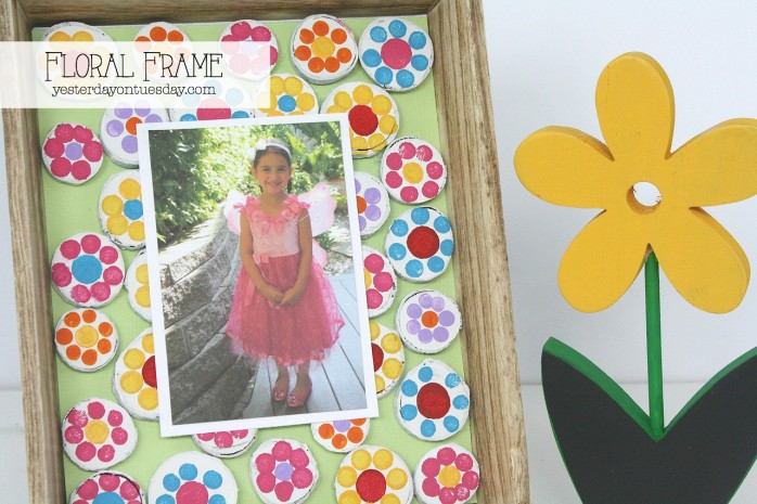 Floral Frame, a fun DIY project for spring