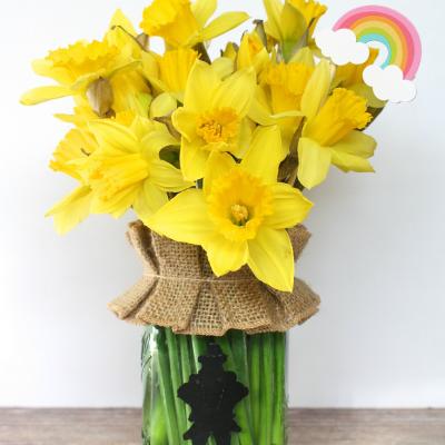 Mason Jar Leprechaun Vase