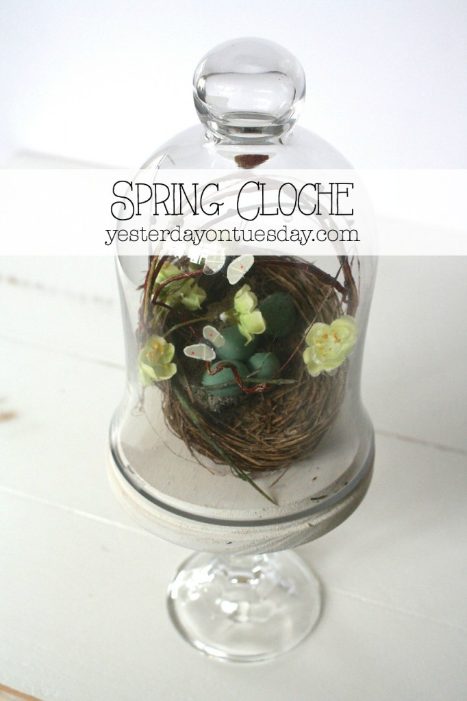 Lovely DIY Spring Cloche project