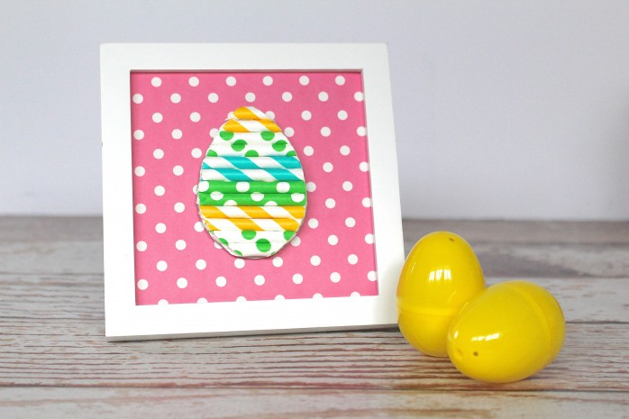DIY Straw Easter Egg, a great Easter project for kids