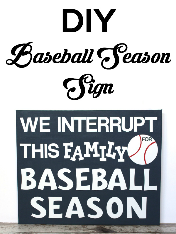 How to make a DIY Baseball Season sign, fun decor for the baseball loving family