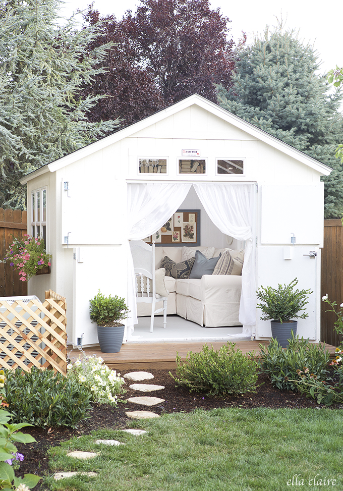 DIY She Shed Makeover from Ella Claire