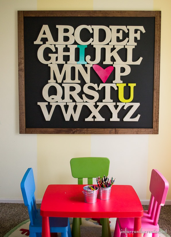 Alphabet Art by Infarrantly Creative