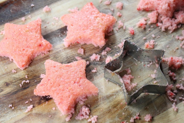 DIY Patriotic Stacked Star Cakes for Memorial Day, 4th of July, and summer barbecues and parties.