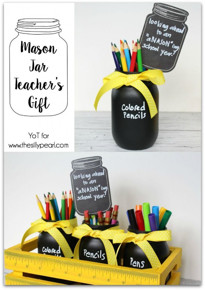 Mason Jars Teacher's Gift