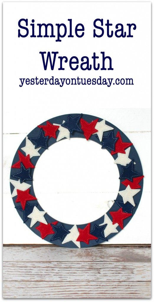 DIY Simple Star Wreath for Memorial Day and 4th of July