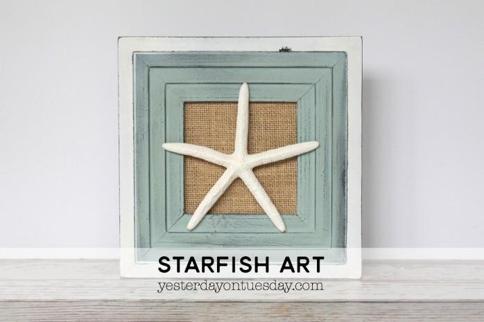 DIY Starfish Art, a pretty coastal decor idea