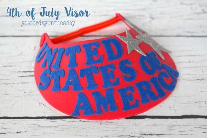 4th of July Visor, great craft for kids