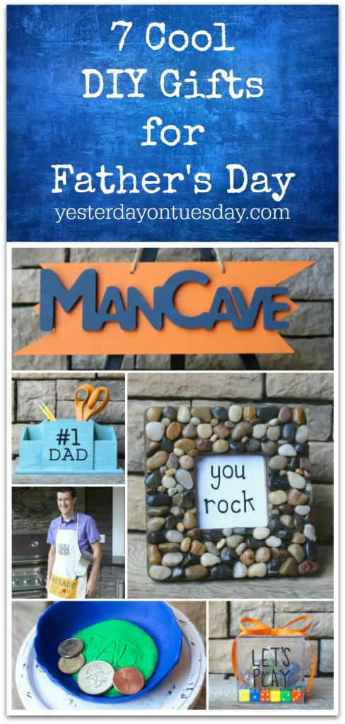 7 Cool DIY Gifts for Father's Day including a Man Cave Sign, Grilling Apron, You Rock frame and more