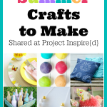 9 Colorful Summer Crafts to make now including play dough, pillows, a placemat and more.