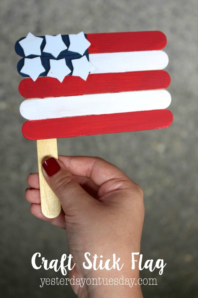 DIY Craft Stick Flag, fun for the 4th of July