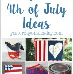 Fun and Festive 4th of July Ideas including a DIY Canvas Flag, craft stick flag, patriotic visor and more.
