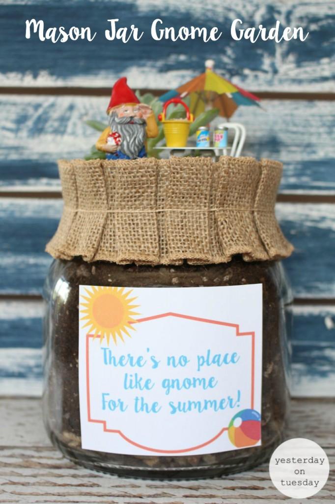 DIY Mason Jar Gnome Garden