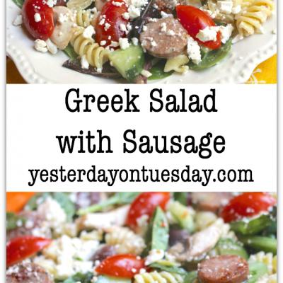 Greek Salad with Sausage