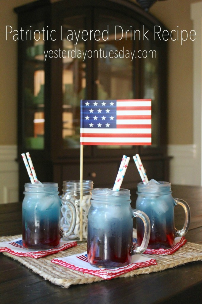 Patriotic Layered Drink Recipe: How to make fun red, white and blue layered drinks for 4th of July and Memorial Day