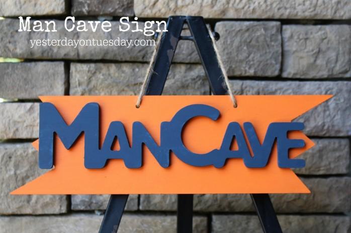 DIY Man Cave Sign
