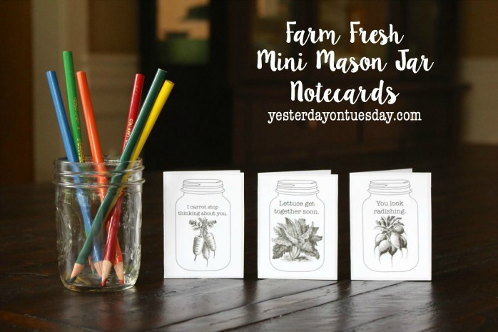Mason Jar Notecards