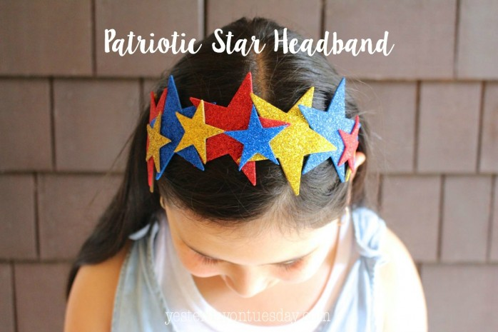 Patriotic Star Headband Craft for 4th of July
