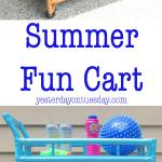 Summer Fun Cart: How to transform a plain beverage cart into a Summer Fun Cart.