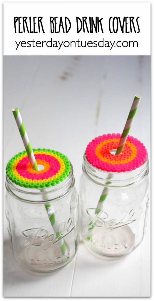 DIY Perler Bead Drink Covers
