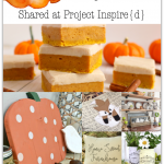 12 Wonderful Fall Projects including a wood pumpkin, pumpkin bars, a cute fox book bag and more.