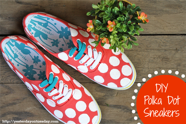 DIY Polka Dot Sneakers, a cheap an chic Kate Spade designer knockoff for less!