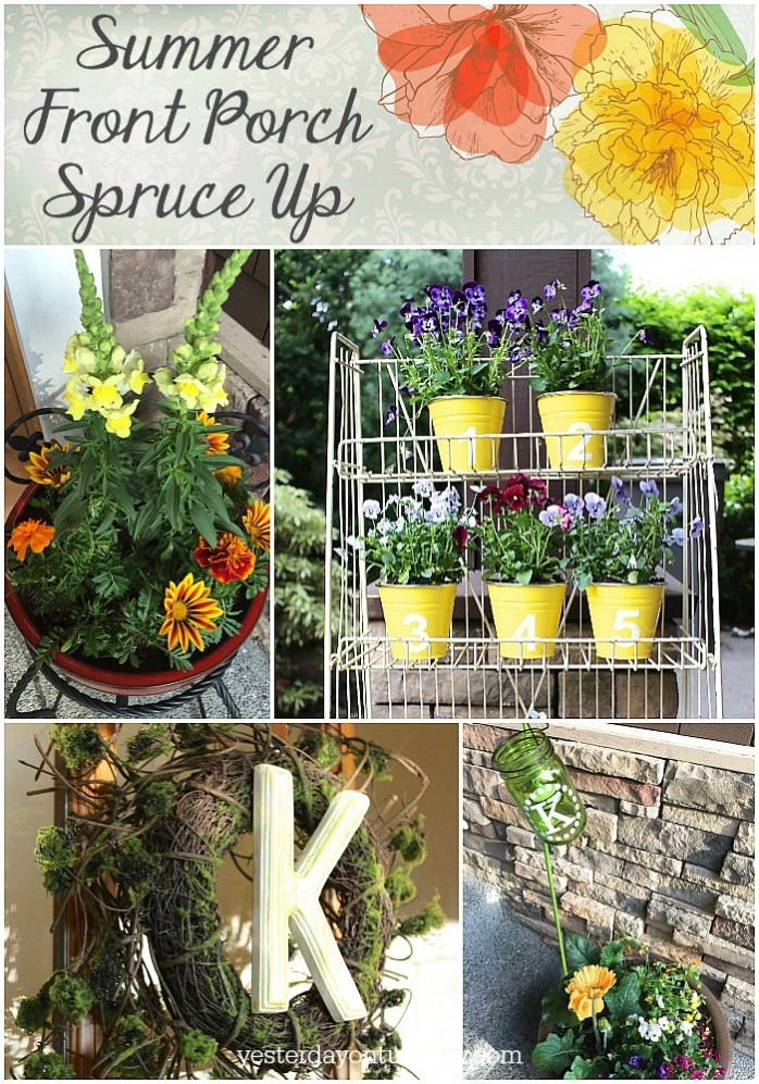 Easy and cheap ideas for a lovely front porch spruce up!
