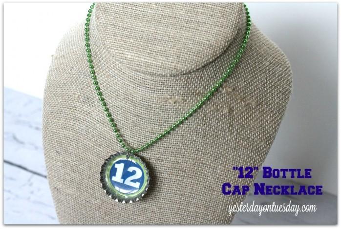 12 Bottle Cap Necklace
