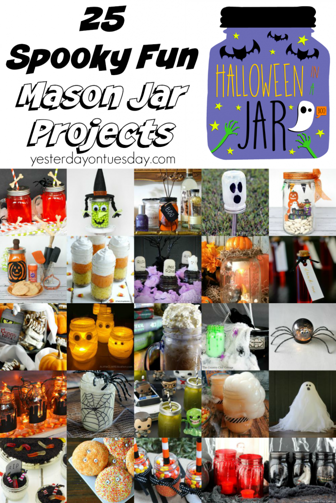 25 Spooky Fun Mason Jar Projects, crafts, recipes and decor