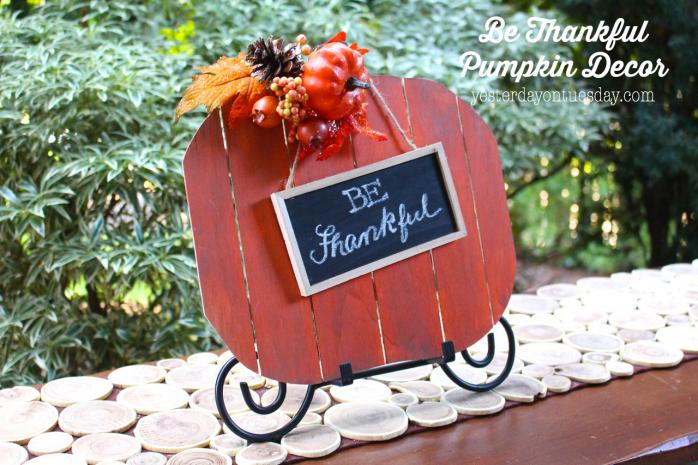 Fabulous Fall Decor Ideas including a Leaf Luminary, Pumpkin Sign, Thankful Tree and more!