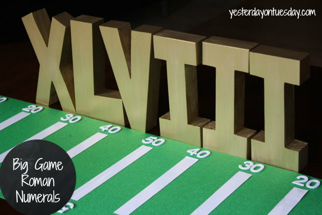 The Big Game Roman Numerals, great for a Super Bowl Party
