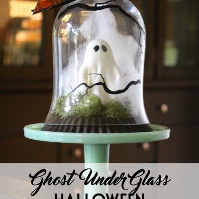 Ghost Under Glass Halloween Decor