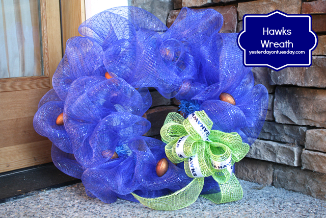 Hawks Wreath, customize for your favorite football team