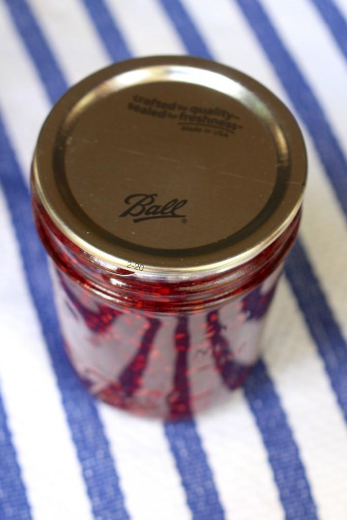 Raspberry Basil Jam Recipe: Make this delicious jam to enjoy on ice cream or crackers.