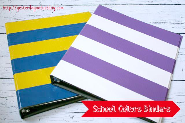 School Colors Binders