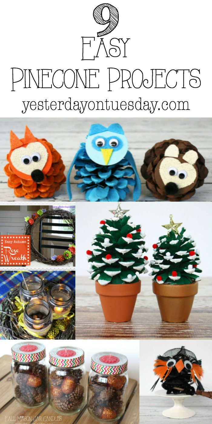 great craft ideas 9 easy pinecone projects yesterday on tuesday 2112