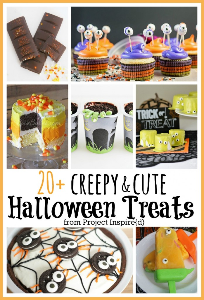 20 Creepy and Cute Halloween Treats, one to pin for class parties!