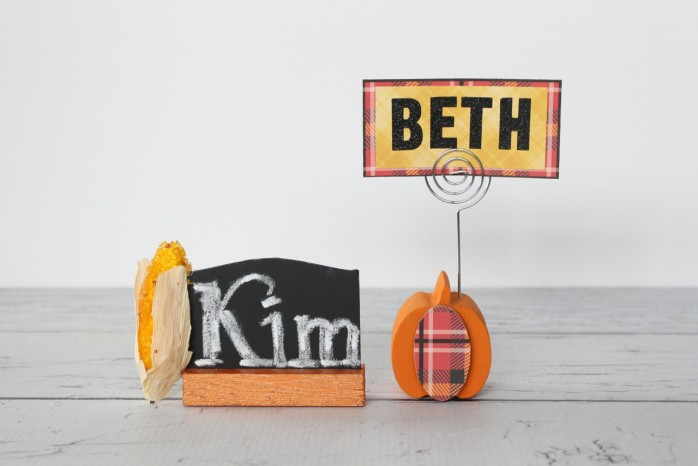 DIY Place Card Holders for Thanksgiving