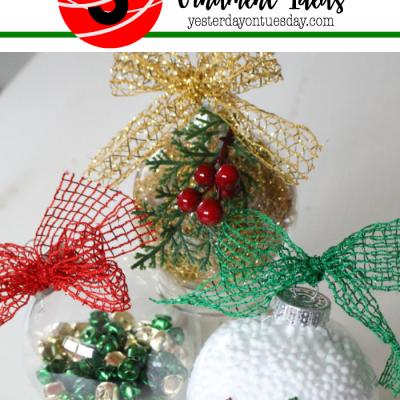 3 Dollar Store Ornament Ideas