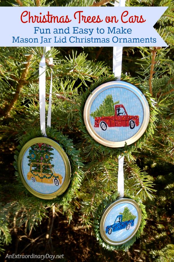 christmas-trees-on-cars-fun-and-easy-to-make-mason-jar-lid-christmas-ornaments-anextraordinaryday-net_