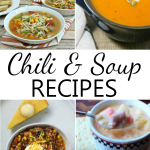 A collection of delicious chili and soup recipes shared at Project Inspire{d}. Perfect fall food ideas, one to pin!