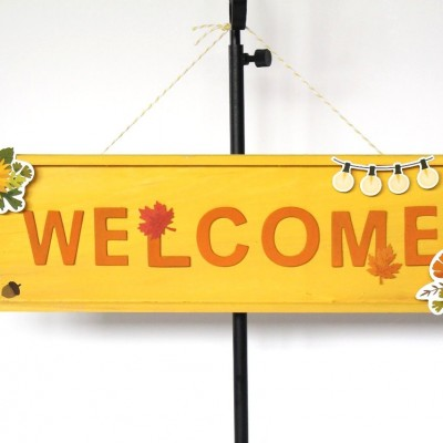 Rustic Woodland Welcome Sign