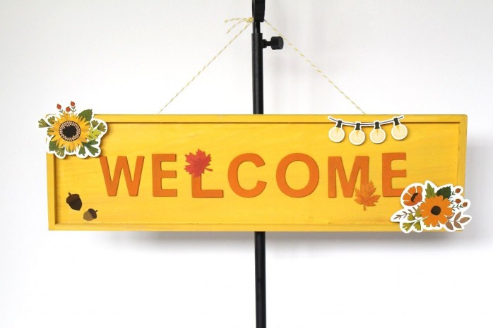 Rustic Woodland Welcome Sign, an easy project for welcoming guests to your home.