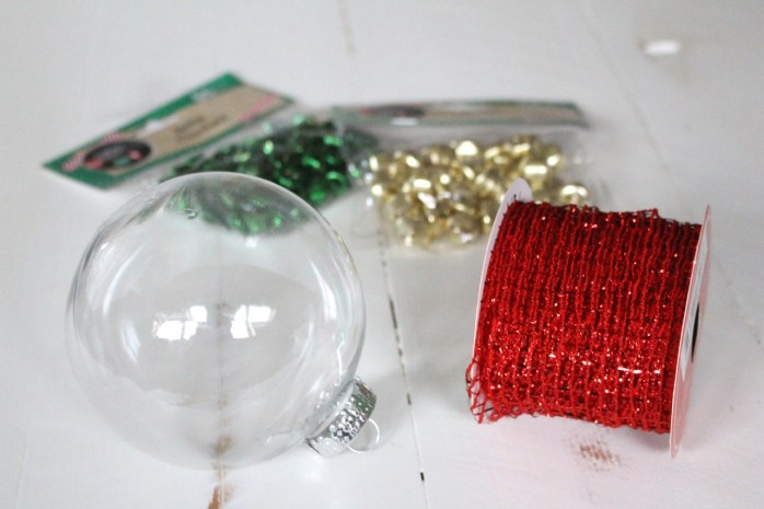 3 Dollar Store Ornament Ideas: A trio of quick, easy and festive Christmas ornament ideas using stuff from the dollar store.