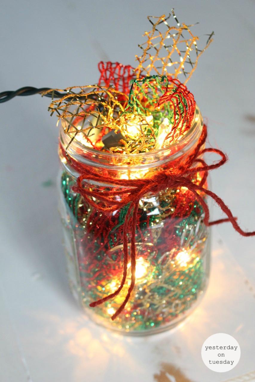 Lighted Christmas Mason Jar Yesterday On Tuesday