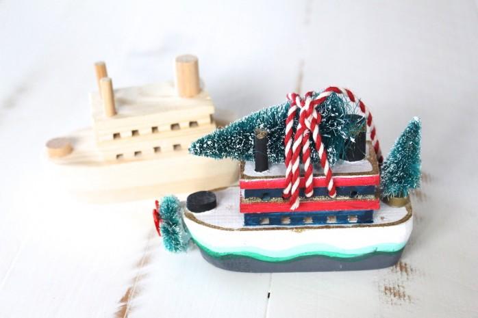 DIY Christmas Trees on a Ferry Ornament