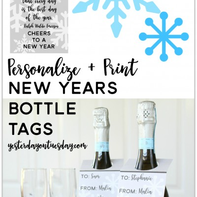 Printable New Years Bottle Tags