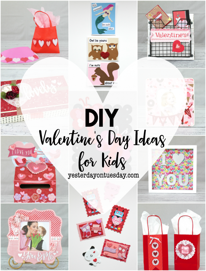 DIY Valentine's Day Ideas for Kids including valentine card ideas, valentine boxes, gifts for parents, teachers and more. One to pin!
