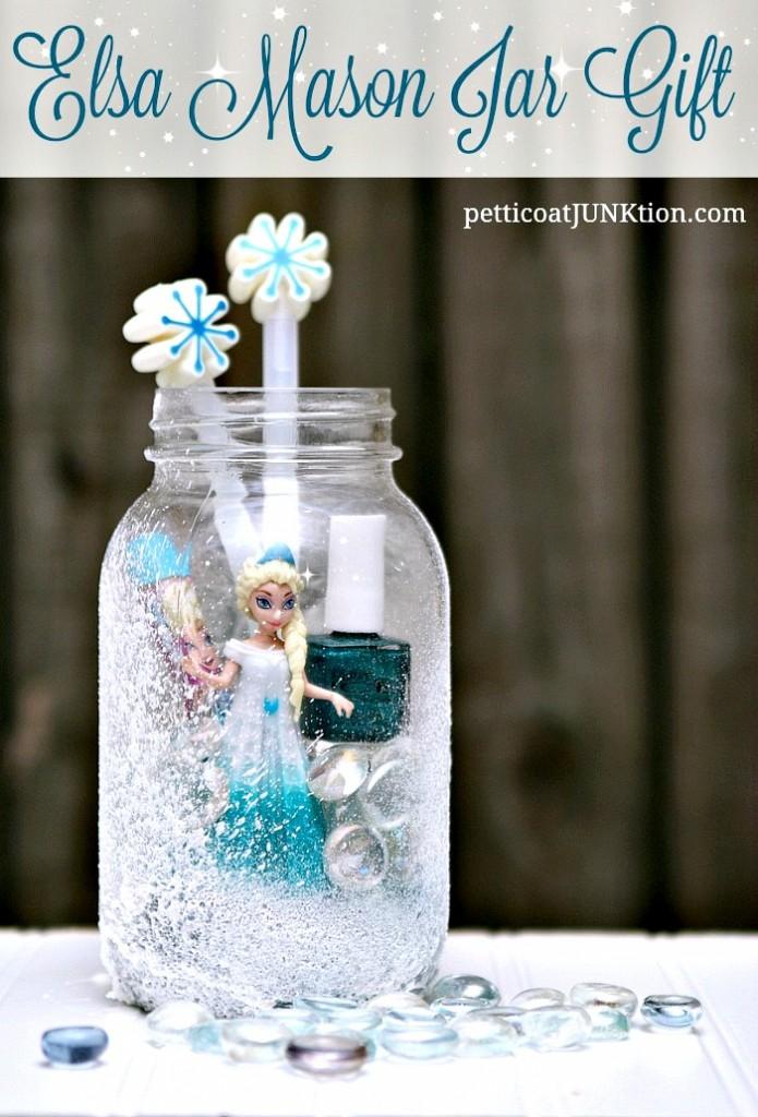 Elsa Frozen Mason Jar Gift